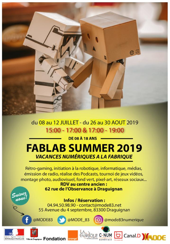 Flyer fablab summer 2019